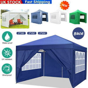 Gazebo Marquee Party Tent With Sides Waterproof Garden Outdoor Canopy 3x3/4/6m