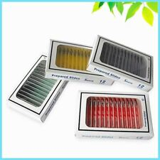 48 PCS Biological Specimen Prepared Plastic Microscope Slides with 4 Boxes for S