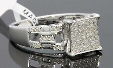 34 Quilates Mujer Acabado Oro Blanco Diamantes Boda Anillo