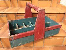 ancienne boite caisse a outils en bois compartiment art populaire vieux métier 2