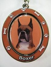 Boxer with Cropped Ears Key Chain