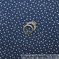 BonEful FABRIC FQ Cotton Quilt Navy Blue STAR Colonial American Country Dot Baby