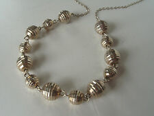 Vintage Italy JJT Sparkling Ball Bead Chain Sterling Silver 18 inch Necklace