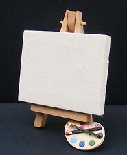 Échelle 1:12 Vide Artiste Toile sur un chevalet avec une peinture palette maison de poupées