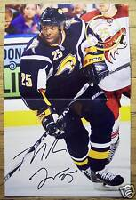 MIKE GRIER - Buffalo Sabres 2009-2010 game night poster #10 -NHL hockey 11-13-09