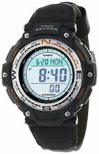 Casio New SGW-100B-3V Twin Sensor Watch Thermometer Compass SGW-100 Green