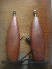 Pair Of David Hunt Wood Table Lamps - Rex ??