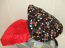 MICKEY MOUSE PRINT INFANT CAR SEAT COVER SET/Graco/BabyTrend & Most brands