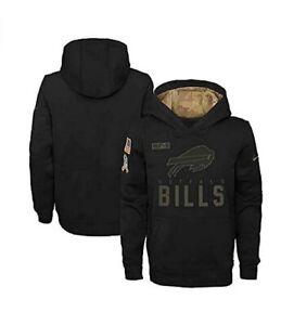 Buffalo Bills Nike Youth Boys 2020 Salute to Service Pullover Hoody - Black