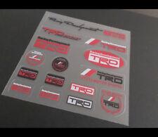 Racing Development TRD JDM Supra 86 F1 AE86 Car interior Small Stickers Set #02