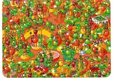 "Where's Wally? novelty postcard. ""The Mighty Fruit Fight"""