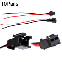 10Pairs SM 2Pin 15cm Male and Female Wire Connector for LED Strip Lights