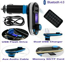 5 in 1 Bluetooth Wireless Hands-free Car Kit USB Port Charger and FM Transmitter