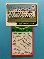 1974 Topps Team Card and unmarked Checklist of Boston Red Sox