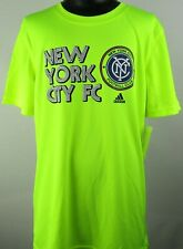New York City FC MLS Adidas Youth Logo Activewear Short Sleeve