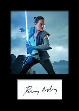 DAISY RIDLEY #2 A5 Signed Mounted Photo Print - FREE DELIVERY