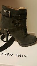 9West boots size 7.5 grey suede