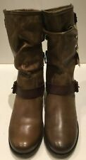 Pikolinos Tobacco Light Brown Leather Women's Le Mans Boots 838.9233 Size 39