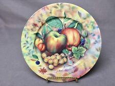 """1855 Email de Limoges Veritable Porcelaine 7&1/2"""" Salad or Dessert Plate APPLE"""