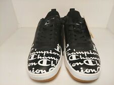 Champion Super C Court Low Print Black White Red Men's 9.5 Shoes Sneakers New