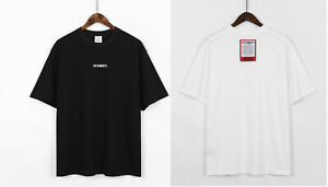 NWT VETEMENTS306 Shirts Instruction Label on Back T-Shirt