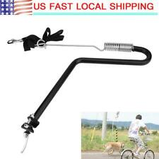 Iron Bicycle Dog Lead Leash Pet Dog Bike Lead Distance Keeper Hands Free US
