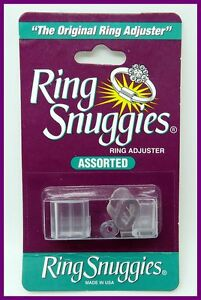 1 Pkt Ring Snuggies,Ring Size Adjuster, Loose Ring Fix + 2 Spiral Resizers