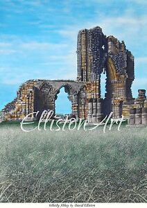 Whitby Abbey North Yorkshire Watercolour Painting Landscape Print giclee