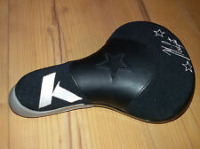Khe Midget seat sillín BMX Dirt negro/blanco/gris Saddle