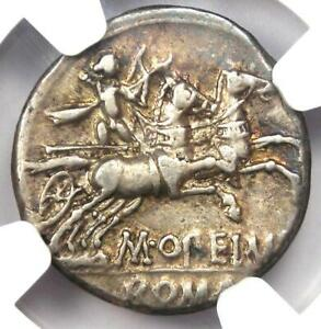 Roman Republic M. Opeimius AR Denarius Coin 131 BC - Certified NGC Choice VF
