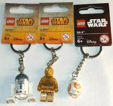 LEGO 853470 R2-D2 C-3PO BB-8 853471 853604 R2D2 C3PO BB8 Star Wars keychains lot