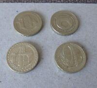 FULL SET UK BRIDGES 2004, 2005, 2006, 2007 OLD ROUND £1 ONE POUND COINS