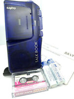 Sanyo TRC-515M BLUE Talk Book MicroCassette Voice Recorder Dictaphone Dictation