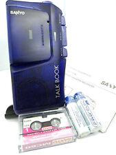 Sanyo TRC-515M BLUE Talk Book MicroCassette Voice Recorder Dictaphone Dictation