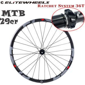 ELITE 29er MTB Carbon Wheelset XC/AM 28H M13 Ratchet System 36T Hub Match