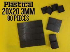 20mm 20X20mm 3mm plastic square miniature bases Warhammer BUY 2 PACKS GET 1 FREE