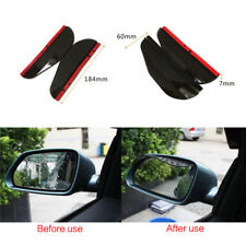 2PCS Car Universal Rear View Side Mirror Rain Board Black Sun Visor Shade Shield