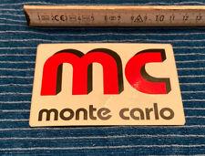 Aufkleber mc monte carlo / Monte Carlo / Monaco / Autocollant