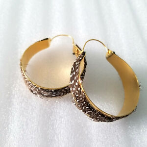 Alex and Ani Feather Hoops Earrings Bold Gold Pierced Spotted
