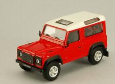 LAND ROVER DEFENDER RED W/WHITE ROOF 1:43 AUTO STRADALI CARARAMA SCALA
