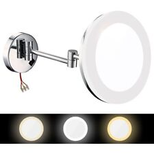 GURUN Hard wire Lighted Make up Mirror Wall Mount 8 Inch 10X Magnifying Polished