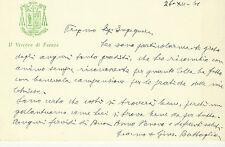 Lettera Autografo Giuseppe Battaglia Vescovo Faenza Papa Giovanni XXIII 1961