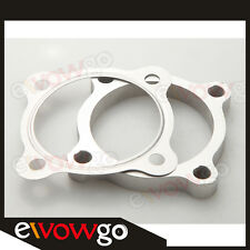 """3"""" 4 Bolt SS304 Turbo Downpipe Discharge Flange+Gasket T4 GT35 T3/60-1 GT3582R"""