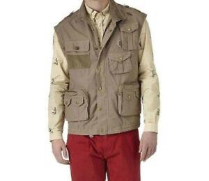Barbour Mens Fishing Gilet Vest NWT Size LARGE Green Sandstone $299