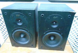 Gale Gold Monitor Stereo Bookshelf Speakers 15-100 Watts Spares or repair