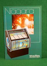 Original Wurlitzer Niagara Jukebox Brochure, Dancers