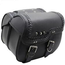 Pair Black Motorcycle PU Leather Tool Bag Saddle Bag For Harley Sportster