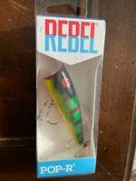 "1 - Rebel Pro Pop-R, Red Eye Perch, Topwater, 2.5"", 1/4 oz."