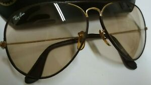 Vintage Ray Ban B&L Photochromatic Brown Lens Frame with leather 58 14 W/c