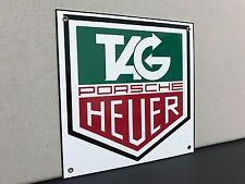 Tag Heuer rare metal advertising sign